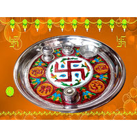 Decorative Pooja Thali - 10 Inches
