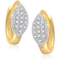 Meenaz Exclusive Oval Shape Gold & Rhodium Plated Cz Earring B130