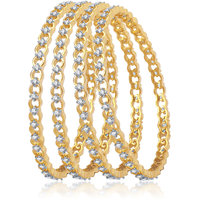 Meenaz Elegant Design Cz American Diamond Bangles Ba102