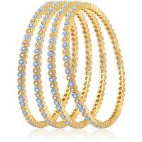 Meenaz Gorgeous Design Cz American Diamond Bangles Ba106