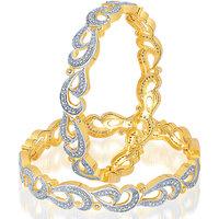 Meenaz Glittering Design Cz American Diamond Bangles Ba110