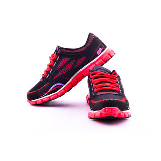 Escan Mens Sport Shoes  BLACK/RED ES7952-1