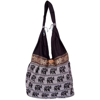 Fashion Bizz Multicolor Handicraft Jhola Bag
