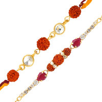 Mahi Combo of Captivating Two Rakhis CO1104279G