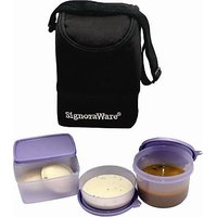 Signoraware Trendy (Trio) Lunch Bag (With Insulated Bag)