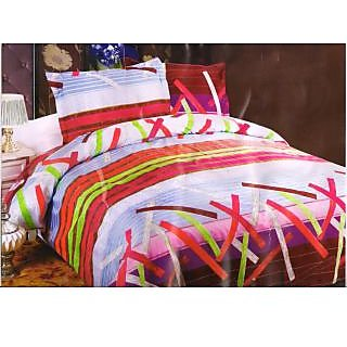 Valtellina Pollycotton Abstract Design Double Bed Sheet (NLD-005)