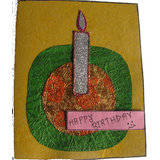 One Candle Birthday Card