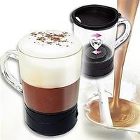 Self Stirring Magic Mug Transparent Glass Coffee Mixing Cup Automatically