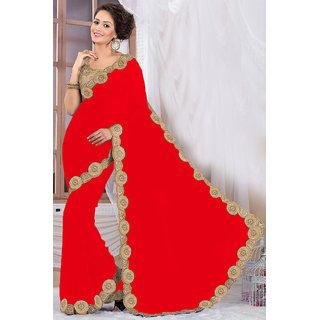 Elegant Red Georgette Saree EBSFS16563
