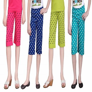 SINIMINI GIRLS CUTE CAPRI(PACK OF 4)SM1400_RBLUE_TB_SM777_RPINK_MEGANDI