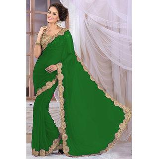 Elegant Green Georgette Saree EBSFS16568