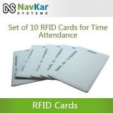 SET OF 10 RFID CARDS FOR TIME ATTENDANCE OR ACCESS CONTROL SYSTEM HAVING RFID