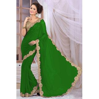 Elegant Green Georgette Saree EBSFS16582
