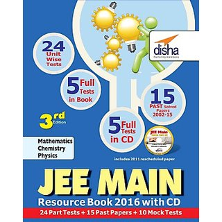 Jee Main 2016 Resource Book (Solved 2002-2015 Papers + 24 Part Tests + 10 Mock Tests) With Cd 3rd Edition (English) (Paperback)