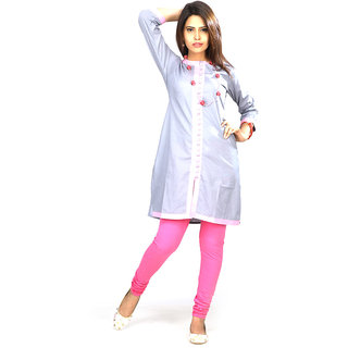 Dee Paris Grey cotton Kurti