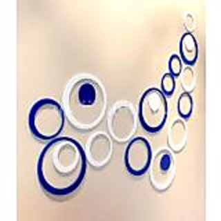 Wall Stickers Acrylic 3D Blue  White Circle - 10 Numbers