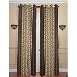 TDKL Best Quality Brown Colour ZigZag Design Curtain (Set Of 2) - 4x7 Feet