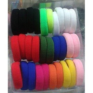 12 Pcs Mix ColorFul Hair Rubber Bands