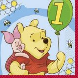 16 Pooh Lunch Napkins - 1st Bday