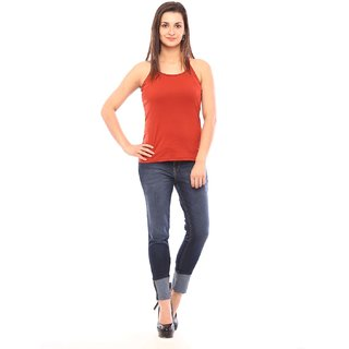 Vvoguish Instyle Rust Spagetti Top