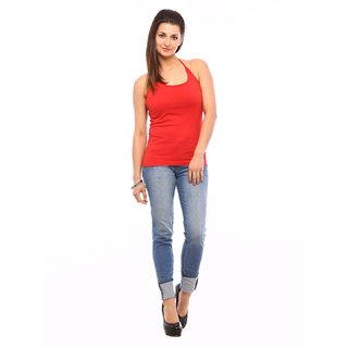Vvoguish Red Spagetti Top