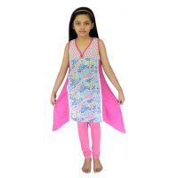 Ssmitn Modish Pink Kurti With Leggings