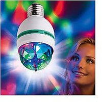 Set of 2-Colorful Laser Light/ Disco Bulb with 360 Rotation