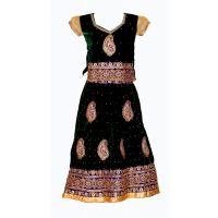 Girls Velvet Ghagra Suits