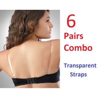 Combo Of 6 College Girl Clear Transparent Straps