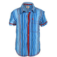 UFO Instyle Royal Blue-Red Shirt