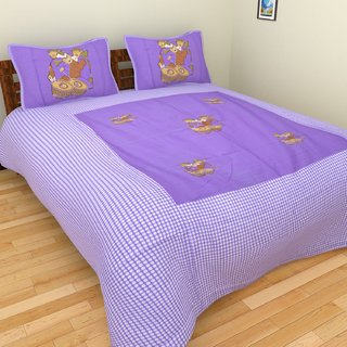 Star Trendz Cotton Abstract Double Bedsheet With 2 Pillow cover.vi544