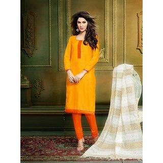 Saree Mall Yellow Printed Dress Material with Matching Dupatta 8CLR47015