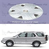 Prigan Car Full Wheel Covers Caps Silver Type For Tata Saffire