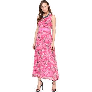 Rose Vanessa pink rose Embellished Maxi
