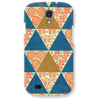 Samsung Galaxy S4 Back Cover Flower Squares By Blueadda