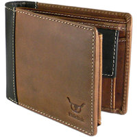 Hidelink Brown Pure Leather Casual Wallets