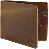 Hidelink Brown Leatherite Wallet For Men