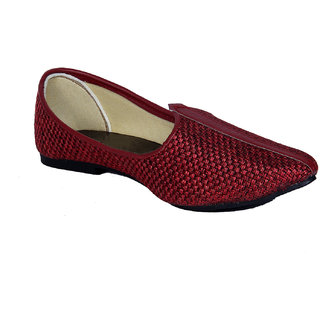 Panahi Mens Handcrafted Marron Ethnic Footwear