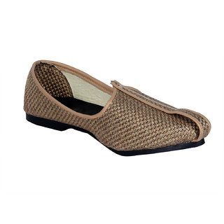 Panahi Mens Handcrafted Brown Ethnic Mojari