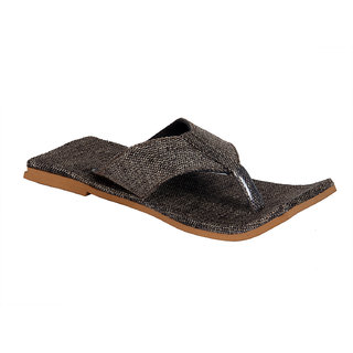 Panahi Mens Square Brown Slipper