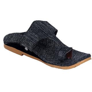 Panahi Mens Black Slippers
