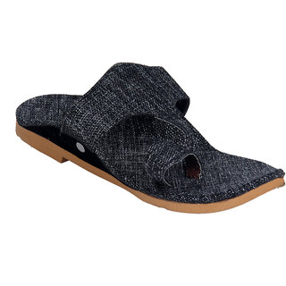Panahi Mens Grey Slip On Sandals