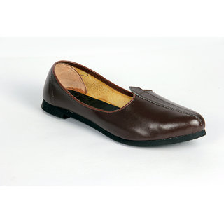 Panahis Men Synthetic Leather Footwear Brown Jutis