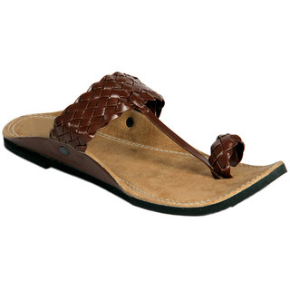Panahis Men Brown Kolhapuri