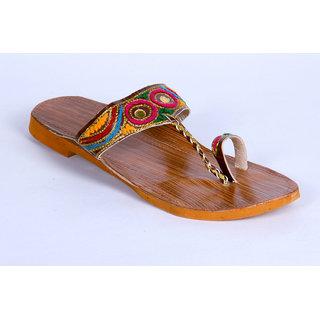 Panahis Women Leather Kolhapuri Sandal