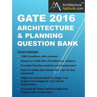 GATE 2016 ARCHITECTURE QUESTION BANK OF 4000 QUESTIONS