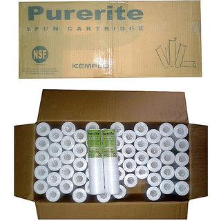 KEMFLO Spun Filter 10  Cartridge 1 Box of 60 Pcs for Water Purifiers