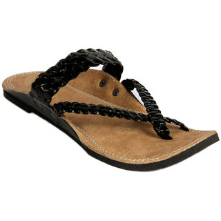 Panahi Mens Black & Brown Ethnic Sandal