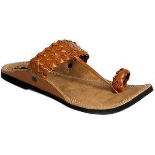 Panahis Modish Men Brown Kolhapuri