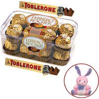 Ferrero Rocher and Toblerone with free Teddy